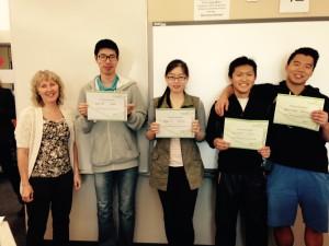HPSS Math Contest Int'l Winners - May 2015